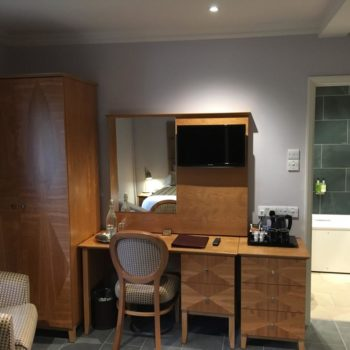 Room facilities, desk, wardrobe and chair