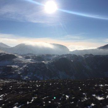 Sun over Cumbrian fells